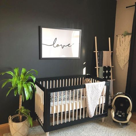 """Project Nursery on Instagram: """"Nothing but LOVE for this dark and moody nursery! Photo: @tealrybchuk"""""""