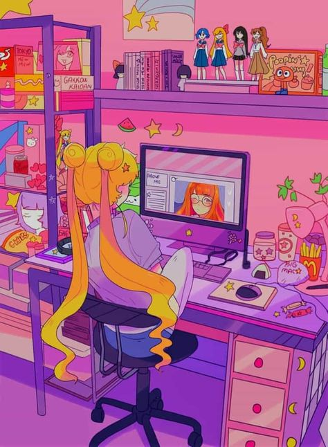 steal the look: 90's anime girls ♡ on We Heart It