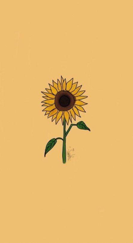 Pin By Merve On Duvar Kagidi Iphone Wallpaper Yellow Sunflower Wallpaper Sunflower Art