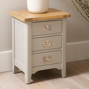 Brayden Studio Waldenburg 1 Drawer Bedside Table In 2020 Vintage