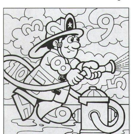 Coloriage Pompier Chiffres Cahier Activites Gratuit Coloring Pages Fire Safety Math
