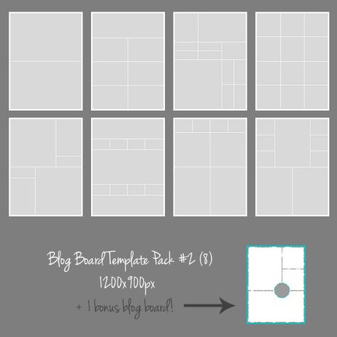 Blog Board Template Pack 2 Collage Photographers by MDMPhotography - digital storyboard templates