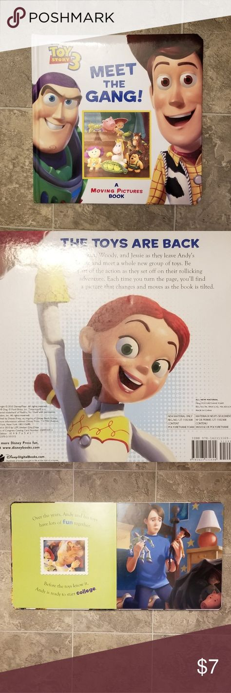 Large Toy Story 3 Meet the Gang book Cute book for Toddlers, one page has some bent creases. In good condition. Disney Other