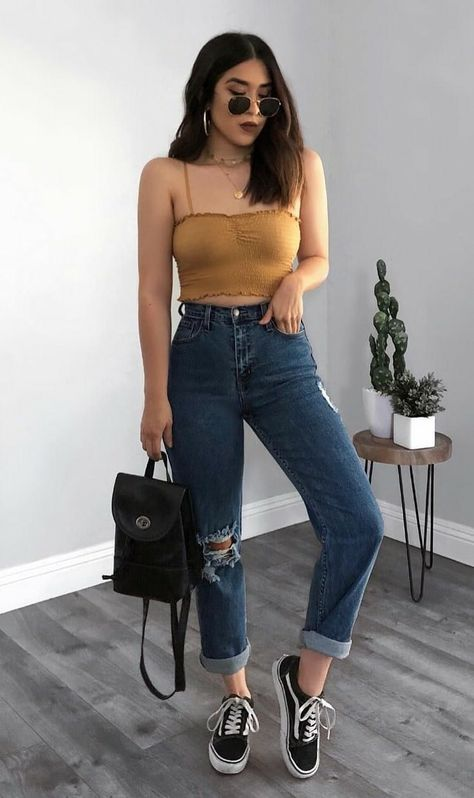 46 Cool Looks for this Summer Get ready for this summer with these awesome outfits ideas featuring crop tops, denim shorts, boyfriend jeans, round sunglasses, skirts & much more for this season.