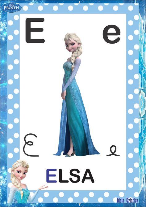 Alfabeto 4 Tipos De Letra Frozen Para Imprimir Gratis Com Imagens