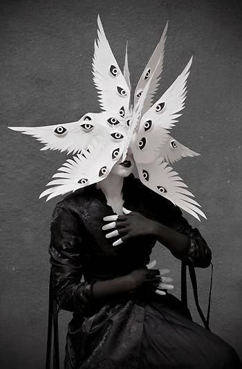 angel halloween costumes The Angelic Host Mask by Philip Valdez Photo/styling by Eliza Lazo de Valdez Arte Fashion, Fashion Fashion, Arte Horror, Foto Art, Costume Design, Wearable Art, Art Inspo, Character Inspiration, Illustration