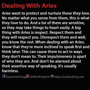zodiacthingcom How to deal with Aries! #aries...