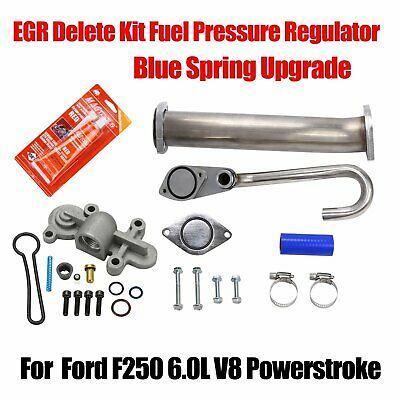 Sponsored Ebay Egr Delete Kit Fuel Pressure Regulator Blue Spring Upgrade For Ford 6 0 V8 03 07 Powerstroke Powerstroke Diesel Ford F250