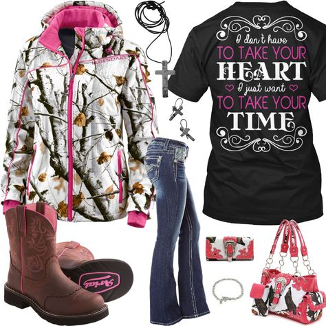 Take Your Time Snow Camo Outfit - Real Country Ladies Best Picture For boho Country Outfit For Your Taste You are looking for something, and it is going to tell you exactly what you are looking for, a Country Girl Outfits, Country Girls, Country Life, Camo Outfits, Cute Casual Outfits, Country Girl Hairstyles, Classy Street Style, Teen Fashion, Fashion Outfits