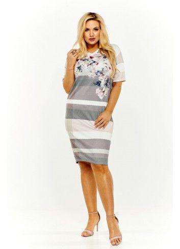 730d55eb Sukienka z kwiatowym wzorem Rozmiar 46 Kolor Multikolor | Odzież ...