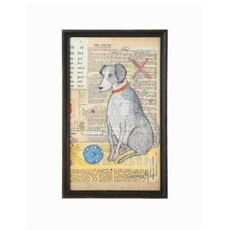 Dog With Ball Quinn S Mercantile Frame Wall Decor Framed Wall