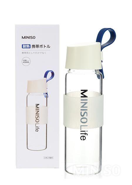 88fd5f389d Heat Resistant Glass Bottle 490ml (Blue)