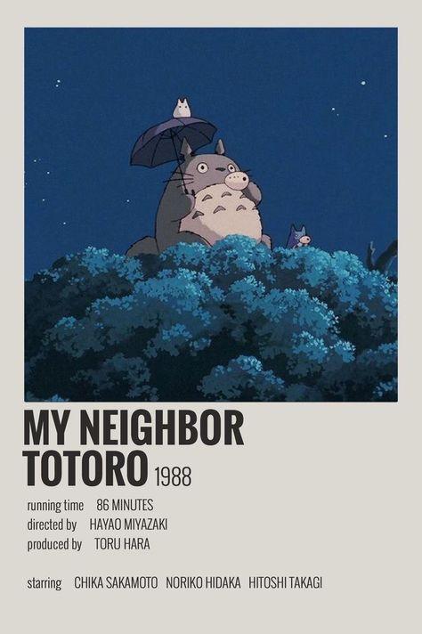 My neighbor totoro movie poster