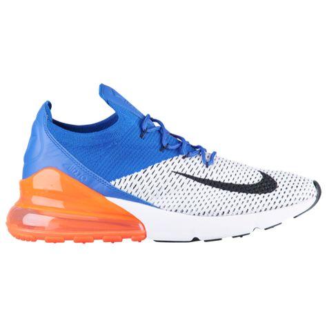Men's Nike Air Max 270 Flyknit WhiteBlackRacer Blue