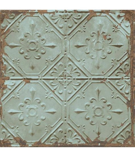 Dutch Wallcoverings Behang.Dutch Wallcoverings Reclaimed Vintage Tegel Behang Groen Grijs