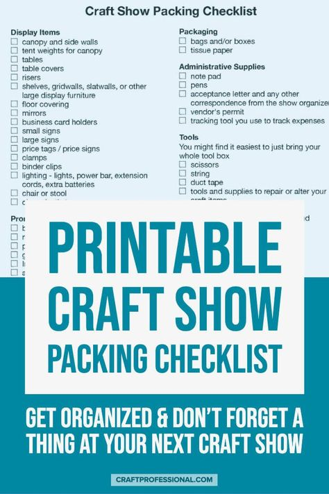 Craft Fairs - What to Bring to a Show