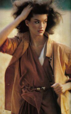 UK Vogue October 1979 : Janice Dickinson by Mike Reinhardt