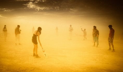 Cricket in a sandstorm... and it looks like Burning Man is gonna be back on again this year! It's time to warm up my cricket bat! Also, would someone please explain the scoring while I do that? It seems a national disgrace that I've lived in New Zealand for 10 years and I still am completely bamboozled by the game... #TreyRatcliff #Cricket #Sandstorm #BurningMan