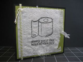 How funny --- know exactly who to make this card for!! (2 ply stamps best)