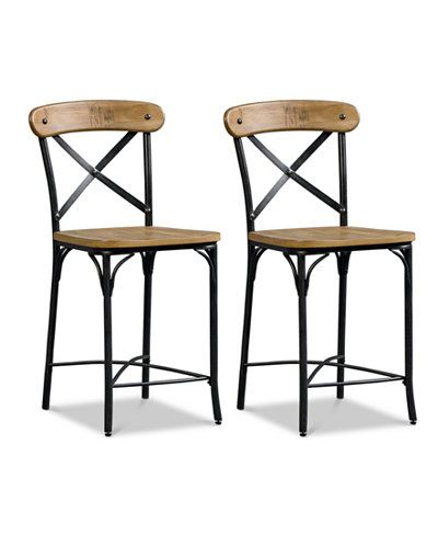 Fantastic Jarren X Back Counter Stool Set Of 2 Quick Ship In 2019 Cjindustries Chair Design For Home Cjindustriesco