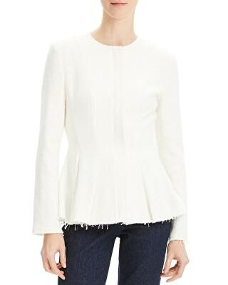 5ac18a6ea12e3 Tibi Designer Isa Toile Pleated Cropped Blouse with Ribbed Cuffs ...