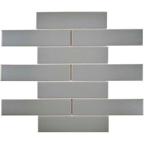 Merola Tile Metro Soho Subway Matte Light Grey 1 3 4 In X 7 3 4 In Porcelain Floor And Wall Tile 1 Sq Ft Pack Fmtshml Wall Tiles Tiles Ceramic Floor Tiles