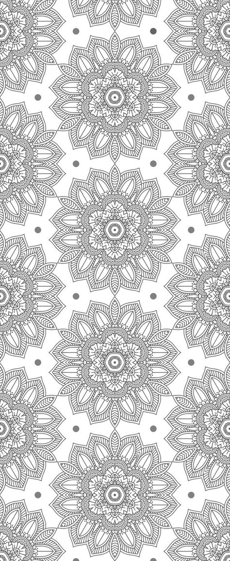 Black and White Wallpaper. Mandala Wallpaper Indian. Removable   Etsy