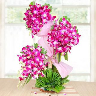 Https Www Indiagift In Lovely Orchids Tall Arrangement Ig 3699 In 2020 Flowers Online Anniversary Flowers Orchids