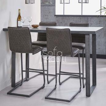 table haute industrielle en metal atlas