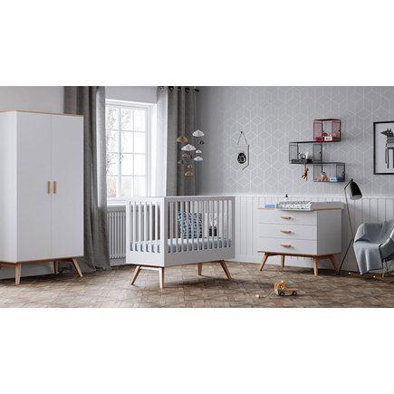 Chambre Nautis Lit 60x120 Commode Armoire Blanc Chambre