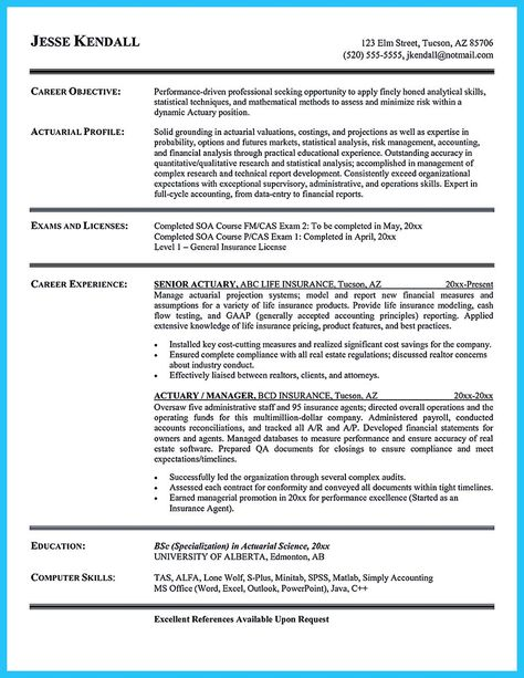 nice Excellent Ways to Make Great Bartender Resume Template, Check - insurance resume objective