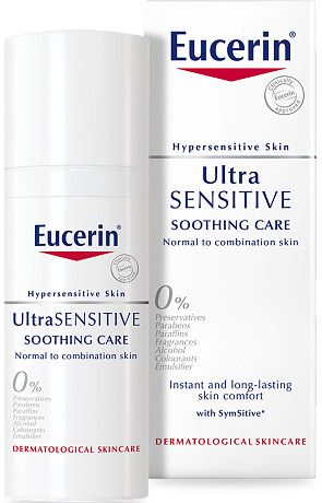 Eucerin Ultra Sensitive Soothing Care Normal To Combination Skin 50ml In 2020