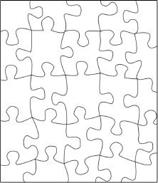 Blank Jigsaw Puzzle Template - I know a creative teacher could do something with this, but what?