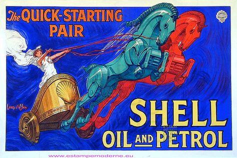 ESSO PETROL VINTAGE POSTER RETRO Style ADVERTISING ART DECO Print 1930/'s ADVERT