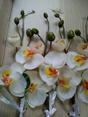 12 20 Artificial Phalaenopsis Orchids Silk Flower Wedding Houseplant White Fashio In 2020 Artificial Flowers Wedding Floral Bouquets Wedding Artificial Silk Flowers
