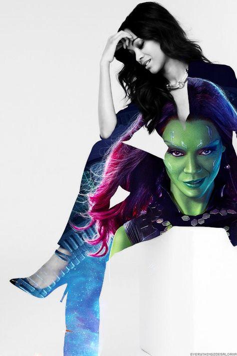 Zoe Saldana-Gamora by ClarkArts24 on DeviantArt