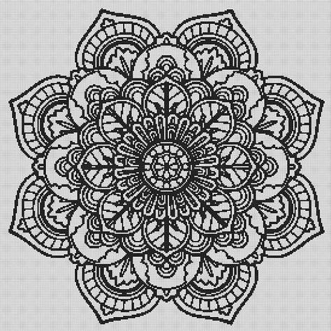 mandala cross stitch - mandala wall art - cross stitch pattern - cross stitch pdf - crossstitch - mo