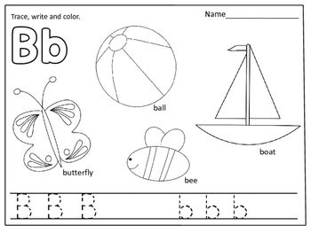 Alphabet Coloring Pages Color Trace And Write Alphabet Coloring Pages Alphabet Coloring Kindergarten Coloring Pages