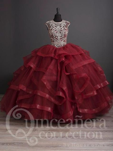 Ruffled Cap Sleeve Quinceanera Dress by House of Wu 26886