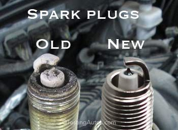 spark plug old/new