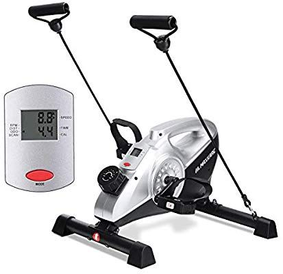 Amazon Com Maxkare Under Desk Bike Magnetic Mini Exercise Bike Stationary Cycle Pedal Exerciser With In 2020 Biking Workout Recumbent Bike Workout Mini Exercise Bike