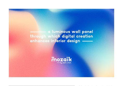 Mozaïk Led's Chat - Brand identity by Treize grammes