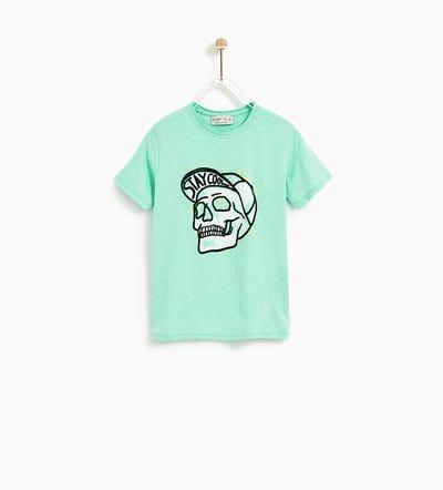Billede 1 Af T Shirt Med Dodningehoved Fra Zara Moda Para Ninas Camisetas Moda