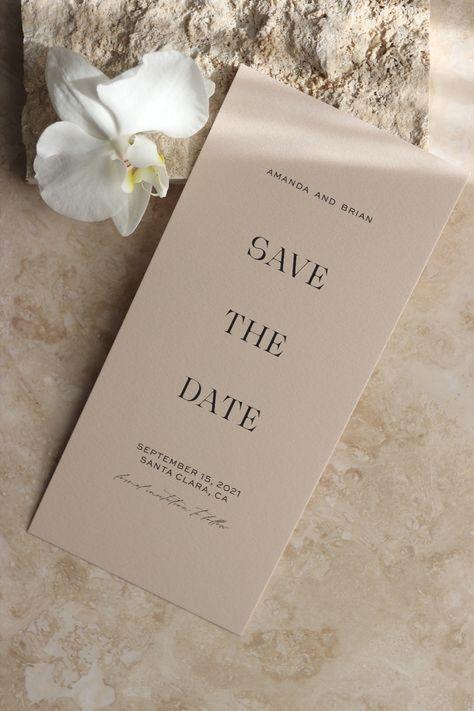 Modern Translucent Vellum Save the Date Cards - Minimal Wedding Stationery