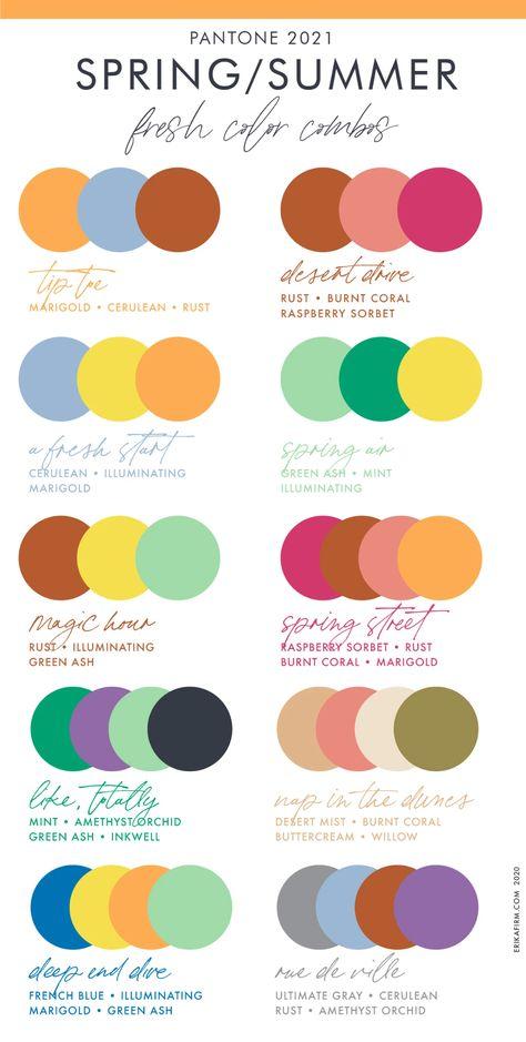 Spring Color Palette, Colour Pallette, Colour Schemes, Color Trends, Color Combos, Best Colour Combinations, Light Spring Palette, Black Color Combination, Color Mixing Chart