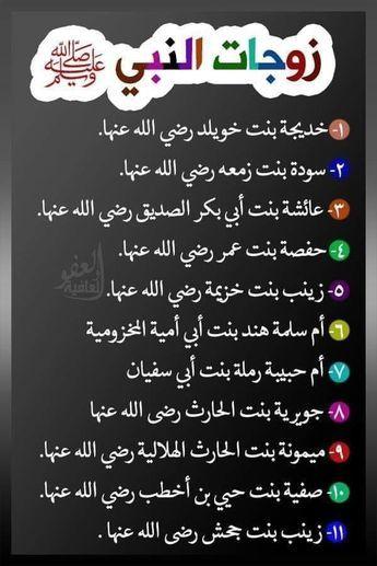 زوجات النبي أمهات المؤمنين Islam Facts Islam Beliefs Learn Islam