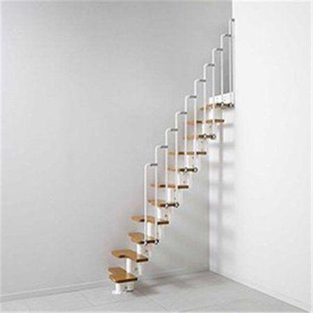 Arke K50194 22 In Modular Staircase Kit White In 2020 Modular Staircase Staircase Design Staircase Remodel