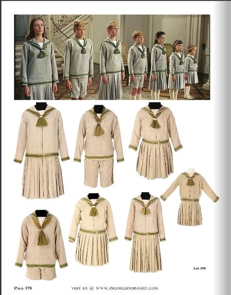 All seven sailor suits from the Sound of Music are about to be auctioned off at Profiles in History. http://www.edelweisspatterns.com/blog/?p=3950