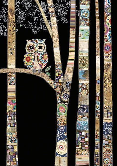 Bug Art - Owl Birch - designed by Jane Crowther