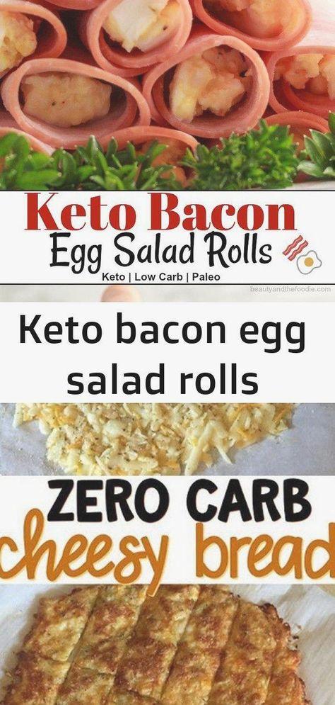Keto bacon egg salad rolls #best #bread #diet #keto #lowcarb #paleo #paleovsketo #recipe
